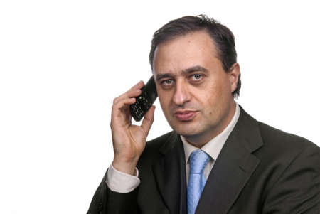 business man on the phone in white background Stock Photo - 2378727