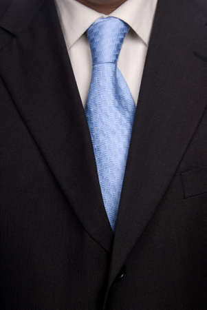 detail of a Business man Suit with blue tie Stock Photo - 2384716