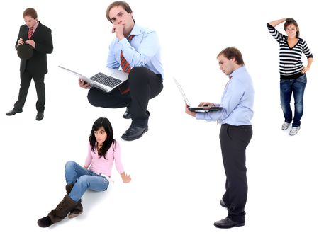 people in studio picture, different situations Stock Photo - 2413664
