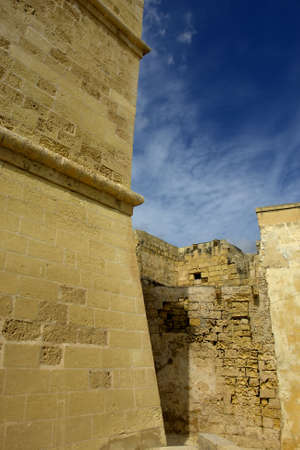 ancient architecture of malta, in gozo island                                photo