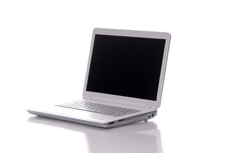 personal computer: a personal computer isolated on white background