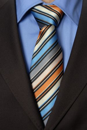 detail of a Business man Suit with colored tie Stock Photo - 2529605
