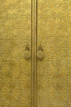 golden door detail in a house in morocco Stock Photo - 2824897