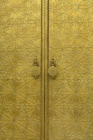 golden door detail in a house in morocco Stock Photo - 2824897