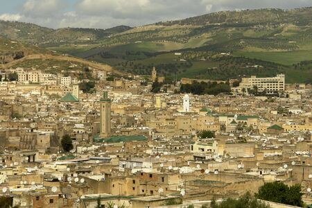 View of Fez city, Morocco old twon 스톡 콘텐츠