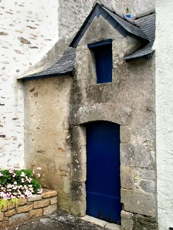 old typical house in brittany, north of france