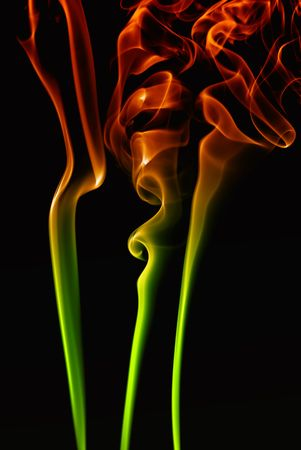 abstract colored smoke in a black background Stock Photo - 2998873