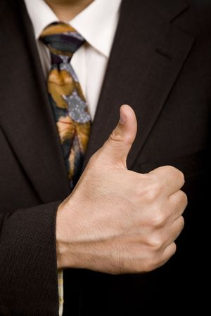 hand going thumb up, business man detail Stock Photo - 3096329