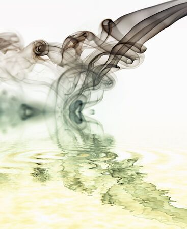 blue rays smoke abstract in white background Stock Photo - 3103753