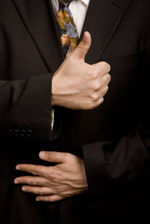 hand going thumb up, business man detail Stock Photo - 3103932