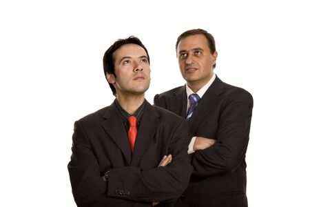 two young business men portrait on white Stock Photo - 3104506