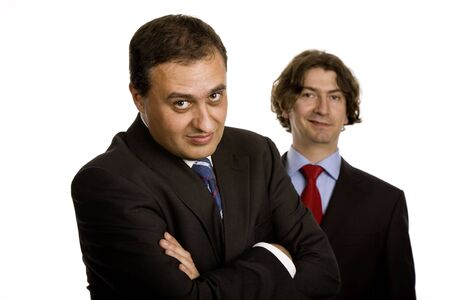 two young business men portrait on white Stock Photo - 3104636