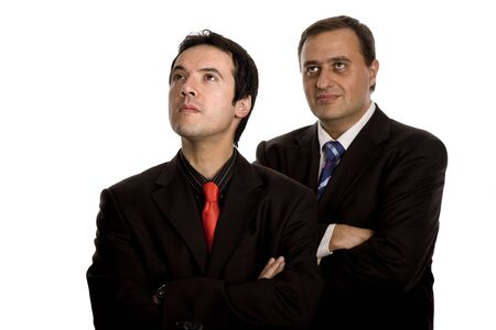 two young business men portrait on white Stock Photo - 3116687