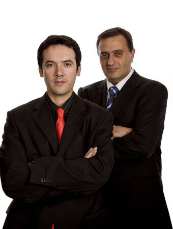 two young business men portrait on white Stock Photo - 3121274