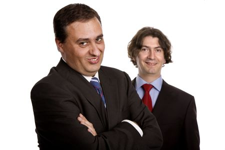 two young business men portrait on white Stock Photo - 3169702