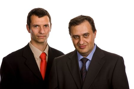 two young business men portrait on white Stock Photo - 3182191