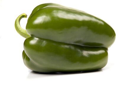 nonfat: a green pepper isolated on white background