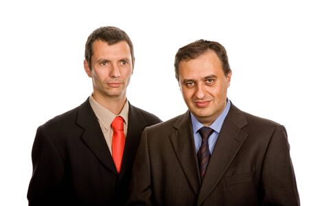 two young business men portrait on white Stock Photo - 3306212