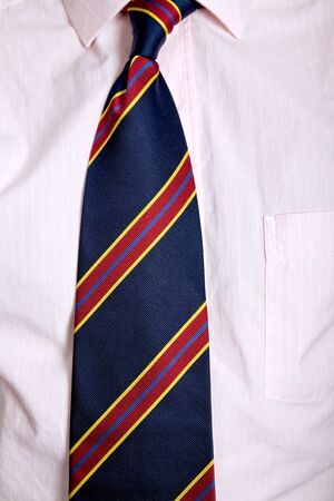 silk wool: detail of a Business man Suit with colored tie Stock Photo