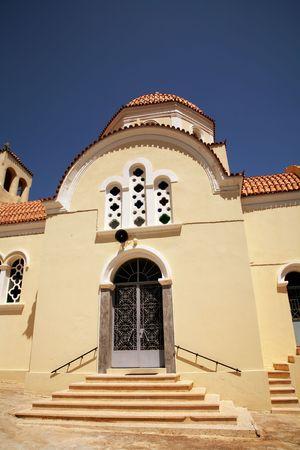 church of sitia in greek island of crete photo