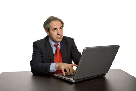 mature business man working with his laptop Stock Photo - 3617906