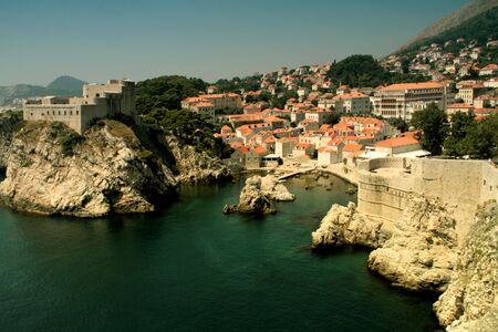 view of dubrovnik in the coast of Croatia photo