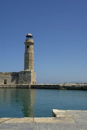 rethymno: The lighthouse at the Venetian harbour, Rethymno