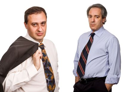 two business men isolated on white background Stock Photo - 3793493