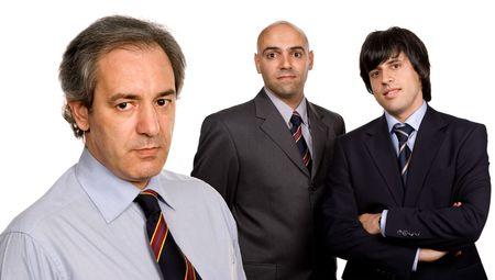 three business men isolated on white background photo