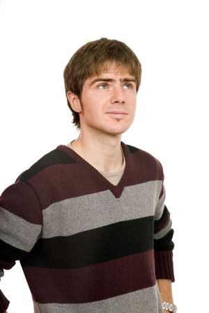 young casual man portrait in white background Stock Photo - 4013112