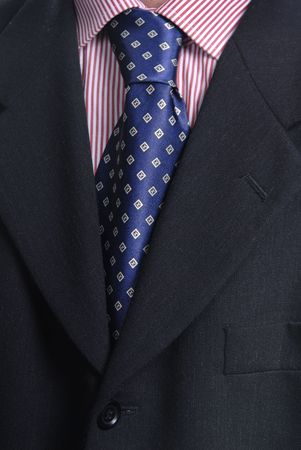 detail of a business man suit with colored tie Stock Photo - 4126007