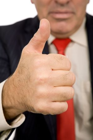 hand going thumb up, business man detail Stock Photo - 4134543