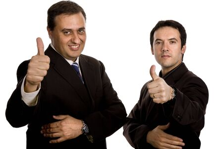 two young business men portrait, focus on the left man photo