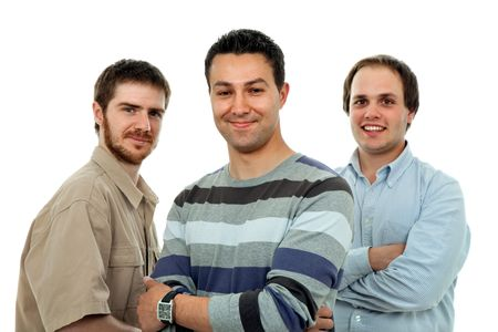 three casual men isolated on white background Stock Photo - 4706572