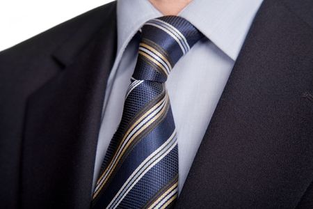 detail of a business man suit with blue tie Stock Photo - 4727408