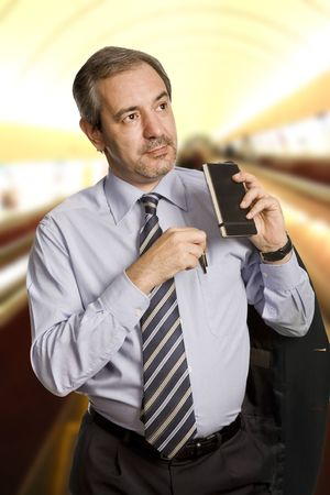 pensive mature business man looking to the future Stock Photo - 4798766