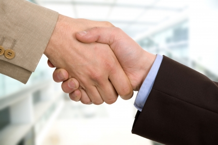 Business team hand shake at the office
