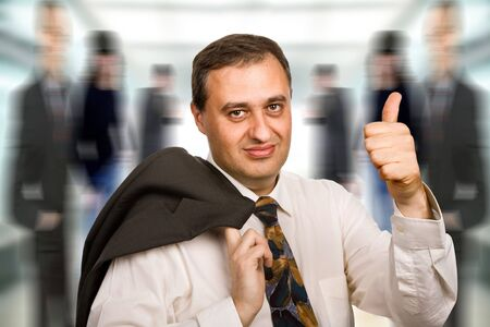 happy mature business man going thumb up Stock Photo - 4926171