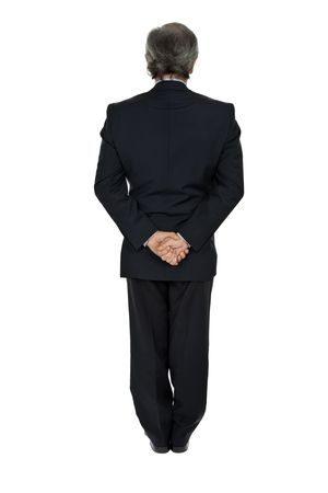 mature business man full body from back