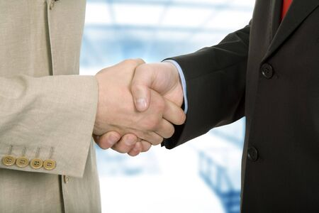 Business team hand shake at the office Stock Photo - 4966373