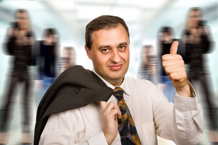 happy mature business man going thumb up Stock Photo - 4962620