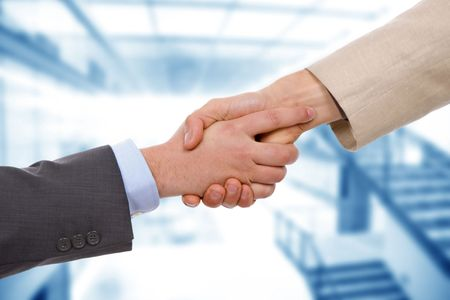 deal making: Business men hand shake at the office