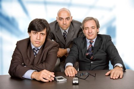 group of workers on a desk at the office Stock Photo - 5644556
