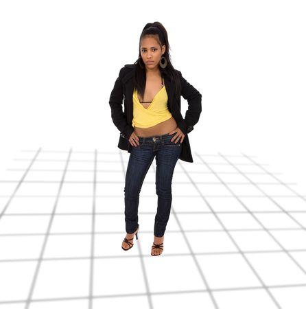 mujer cuerpo completo: joven mujer africana hermosa, golpe al cuerpo completo