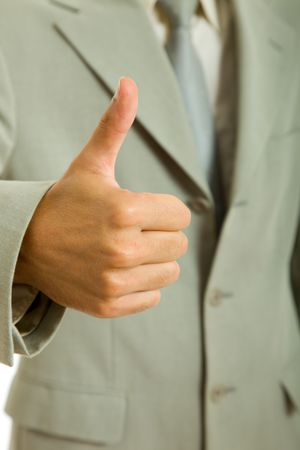 hand going thumb up, business man detail Stock Photo - 6550426