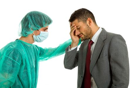 medical doctor telling bad news to the patient photo