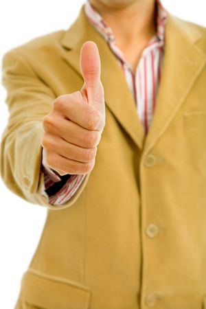 hand going thumb up, young casual man detail Stock Photo - 6815749