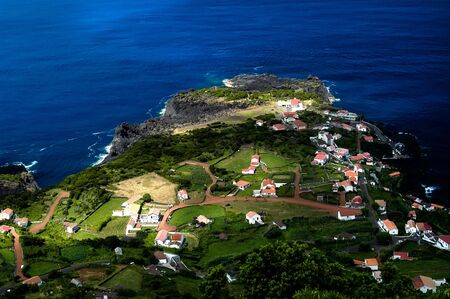 Faja, village at the coast in Sao Jorge island, Azores, Portugal