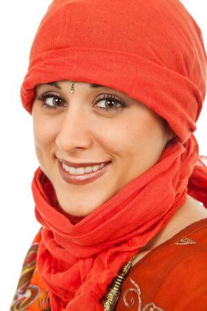young beautiful woman in a studio portrait photo