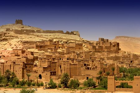 ancient city of Ait Benhaddou in Morocco photo
